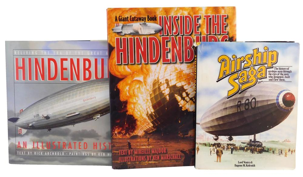 "BOOKS: Zepplins, twenty-four modern books, including: Lehman & Miongos ""Zeppelins"" (1927); Robinson's ""The Zeppelin in Combat"" (1966.."