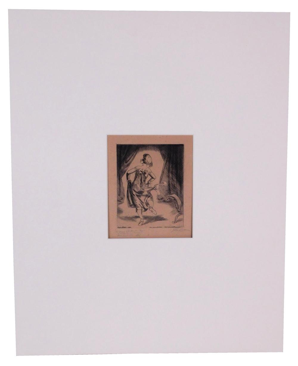 """John Sloan (American, 1871-1951), """"Antique à la Française"""", unframed etching, 1929, Morse 240, only state, Ed: 100 - of which 75 wer..."""