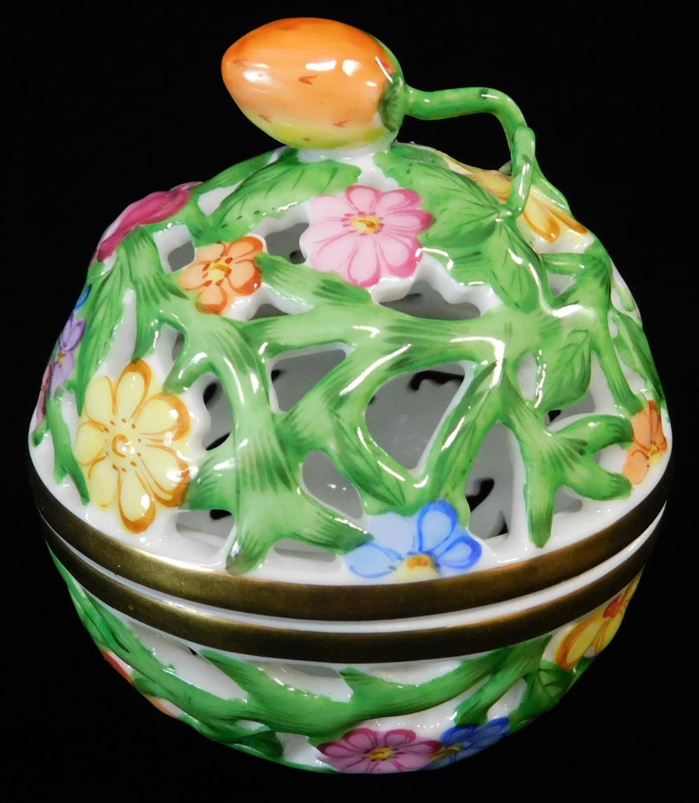 """Herend, Tiffany & Co. porcelain, four pieces, including: """"Tiffany Arbor"""" pattern octagonal platter and matching pitcher for Tiffany ..."""