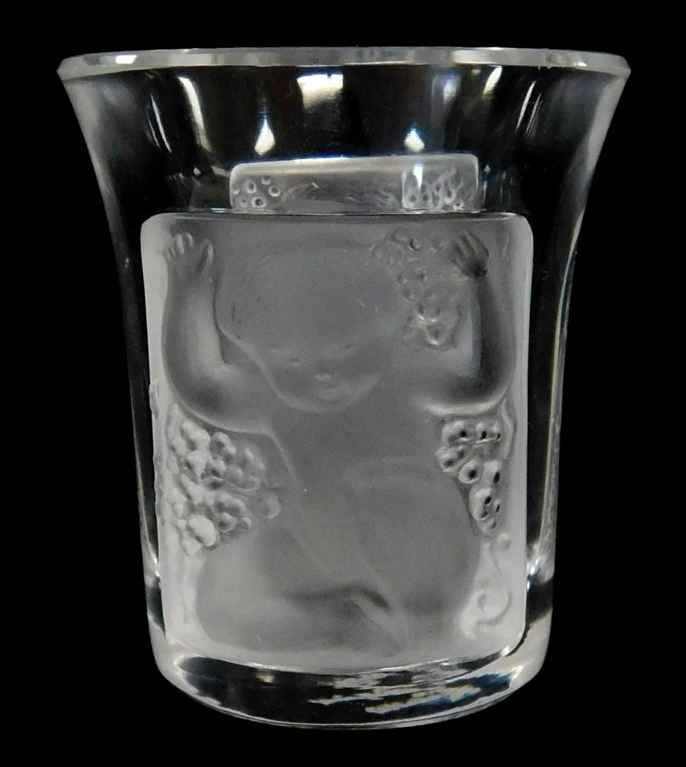 """Lalique, etc., twelve pieces of frosted crystal including seven signed """"Lalique France"""", details include: Lalique """"Elizabeth"""" footed..."""