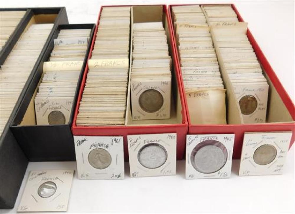 COINS: Coins from France and some French Colonies, including: France 1835-1970; 50 centimes, 1866-1964;