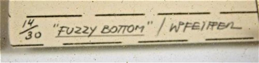 "Werner Pfeiffer (German/American, b. 1937), ""Fuzzy Bottom"", 1980, ed. 14/30, three-dimensional mixed media construction of etching,..."