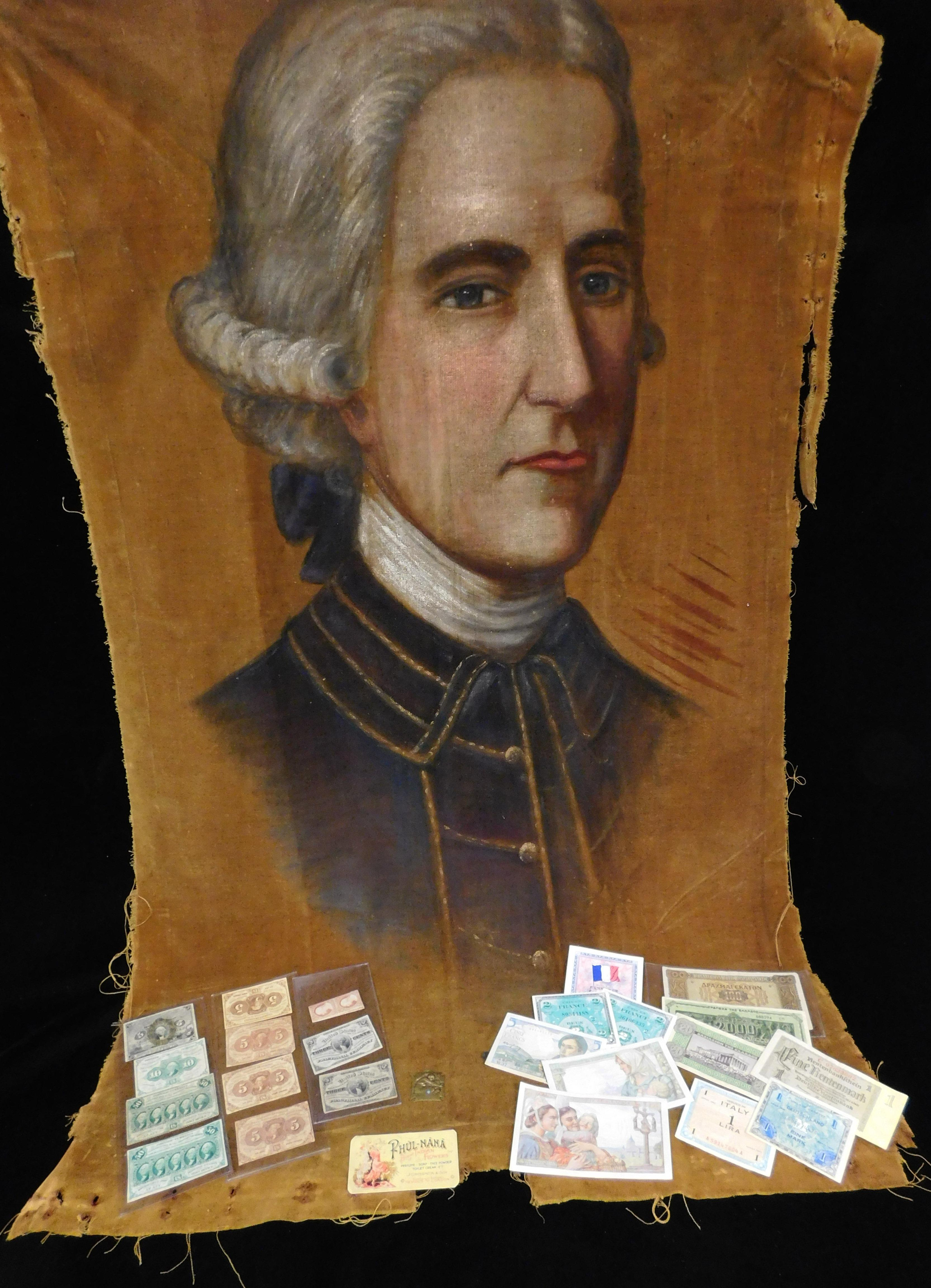 EPHEMERA: Twenty-five pieces of Civil War era currency and related ephemera, Civil War-era paper currency including: ten US Fraction...