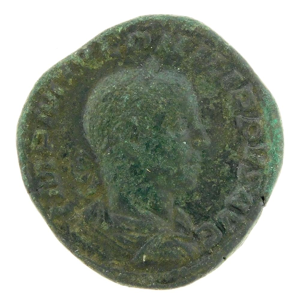 COIN: Ancient Rome. 247-249 AD Phillip II AE Sestertius. Goat standing left. Struck to commemorate the 1000th anniversary of Rome's...