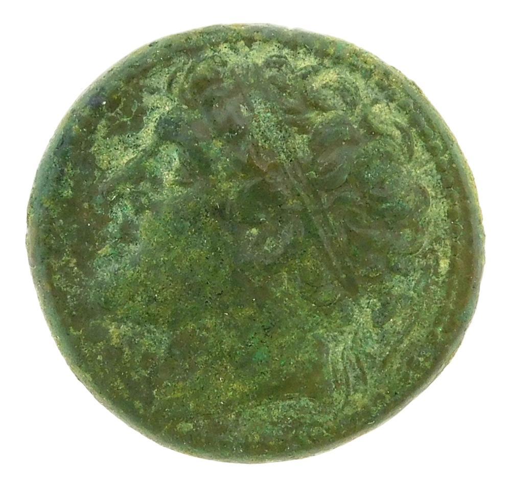 COIN: Ancient Greece Sicily, Syracuse. Circa 230-218 BC Hieron II (275-215 BC) AE Horseman with Spear right. gEF, green patina. 19.3...