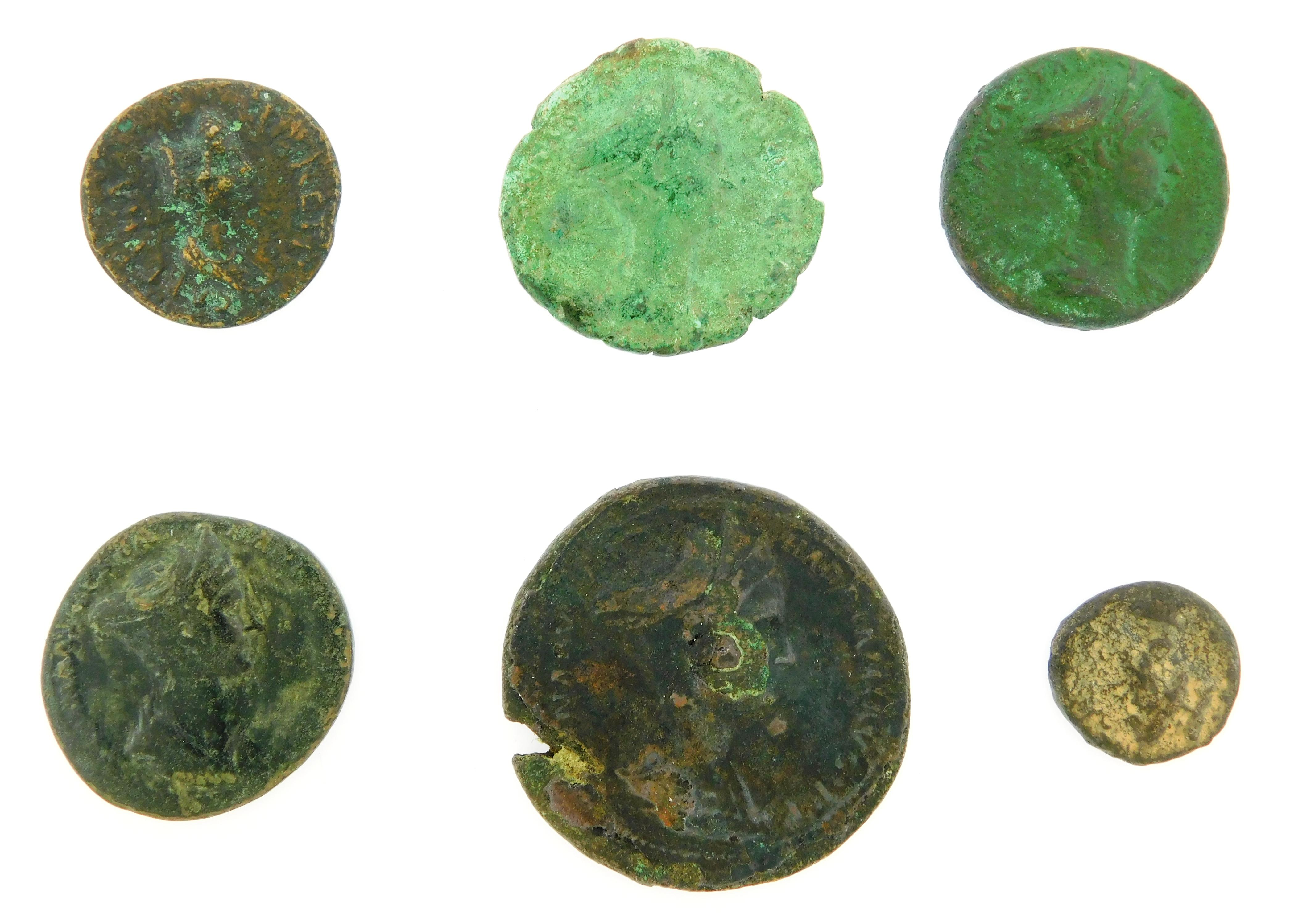 COINS: Ancient Rome Sabina (128-137 AD), Wife of Hadrian Sextet. AE Provincial issue of Perinthos, Thrace, Demeter standing left. VF...