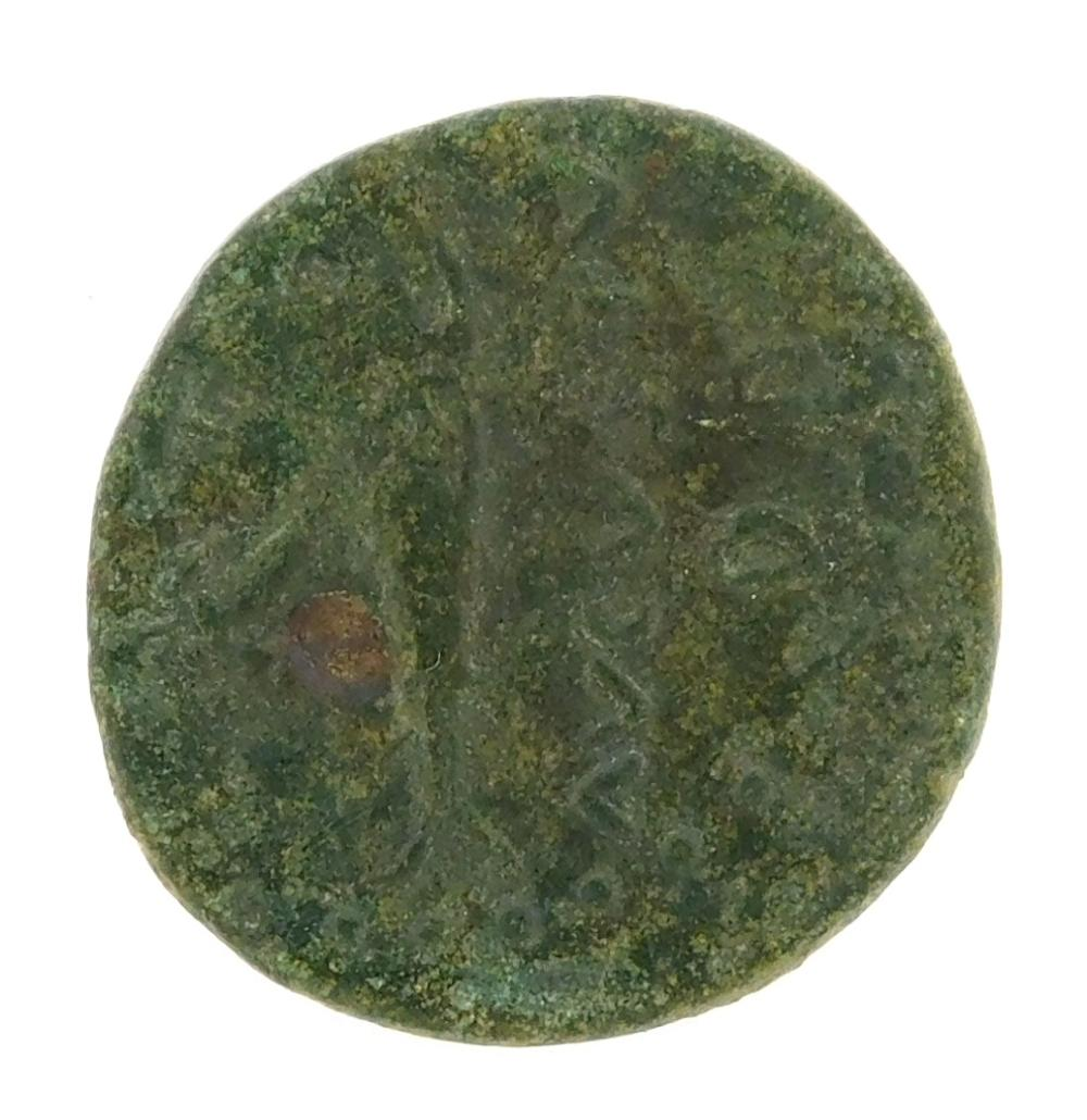 COIN: Ancient Rome Parium. 68-69 AD Galba AE. Capricorn reverse. nVF, heavy patina and some pitting. 5.39 Grams, 22.3mm [Disclaimer:...