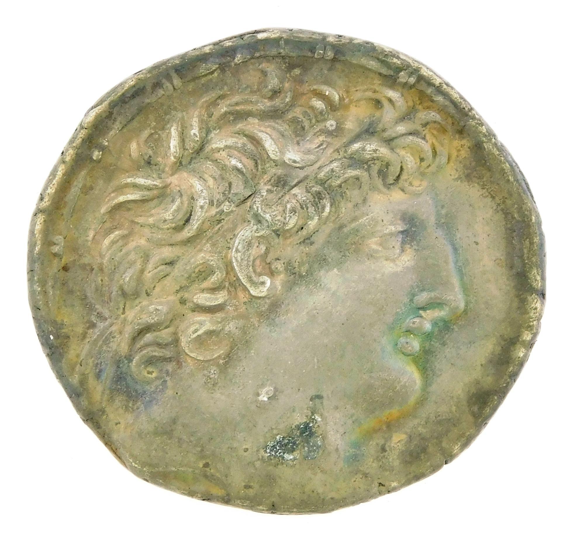 COIN: Seleukid Empire. Circa 121-113 BC Antiochos VIII Epiphanes AR Tetradrachm. Zeus standing left. gEF. 16.46 Grams, 30.1mm [Discl...