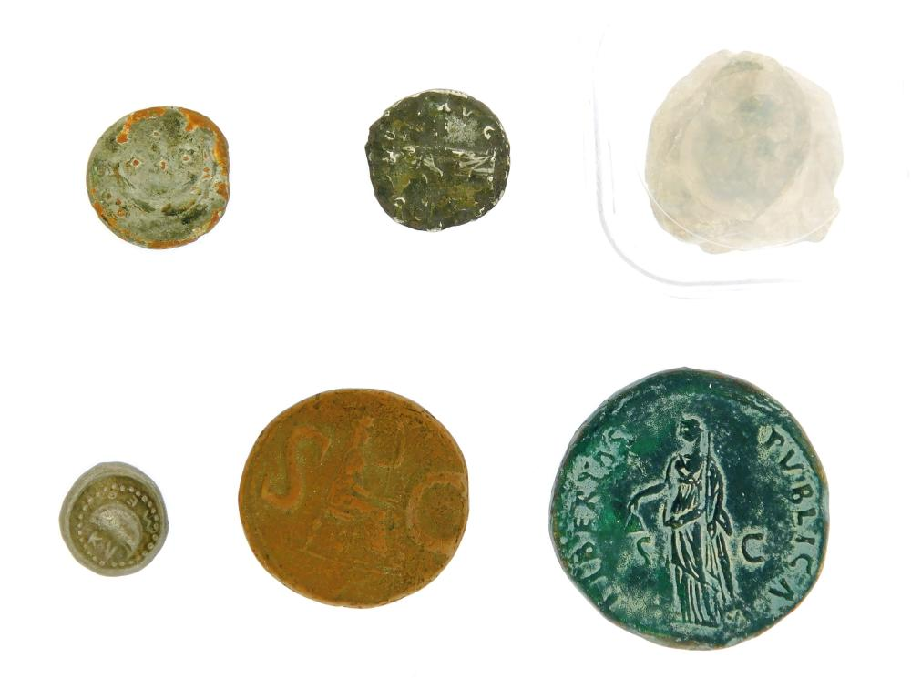 COINS: Ancient Rome Counterfeits and Fourees. Circa 1800 Counterfeit of Cambania Hemidrachm by Carl Wilhelm Becker (notorious forger...
