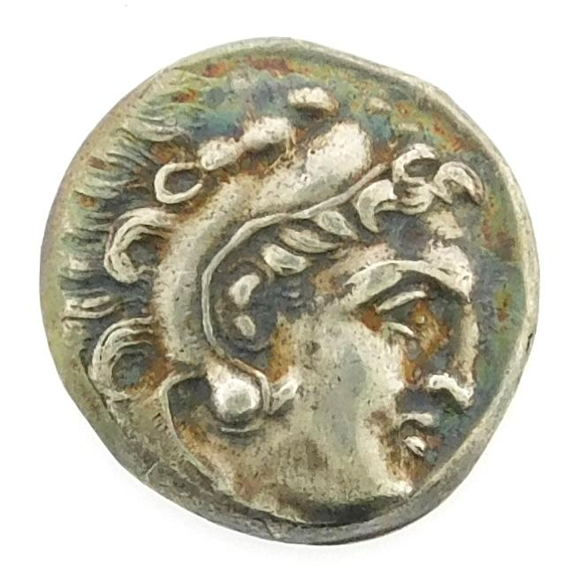 COIN: Ancient Greek Macedon. Circa 336-323 BC AR Drachm of Alexander III. (Alexander the Great) gVF. Includes PNG certificate # 4046...