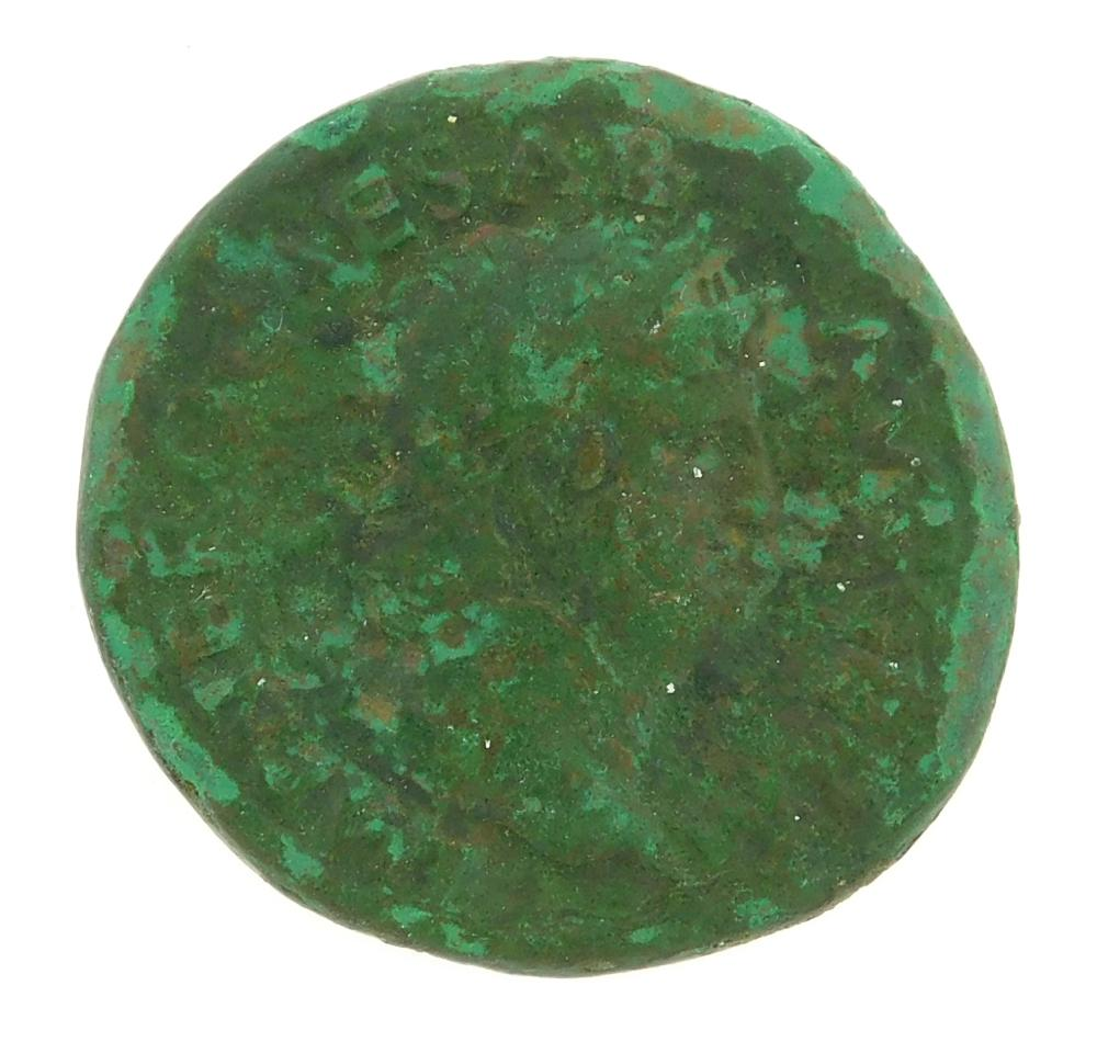 COIN: Ancient Rome. 54-68 AD Nero AE As. Victory walking left. gF with heavy green patina. 10.32 Grams, 26.4mm [Disclaimer: Descript...