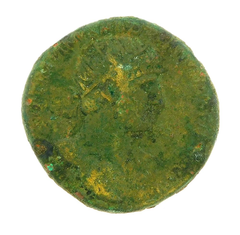 COIN: Ancient Rome. 117-138 AD Hadrian AE Dupondius. Salus standing left. nVF. 11.89 Grams, 26.5mm [Disclaimer: Descriptions of thes...