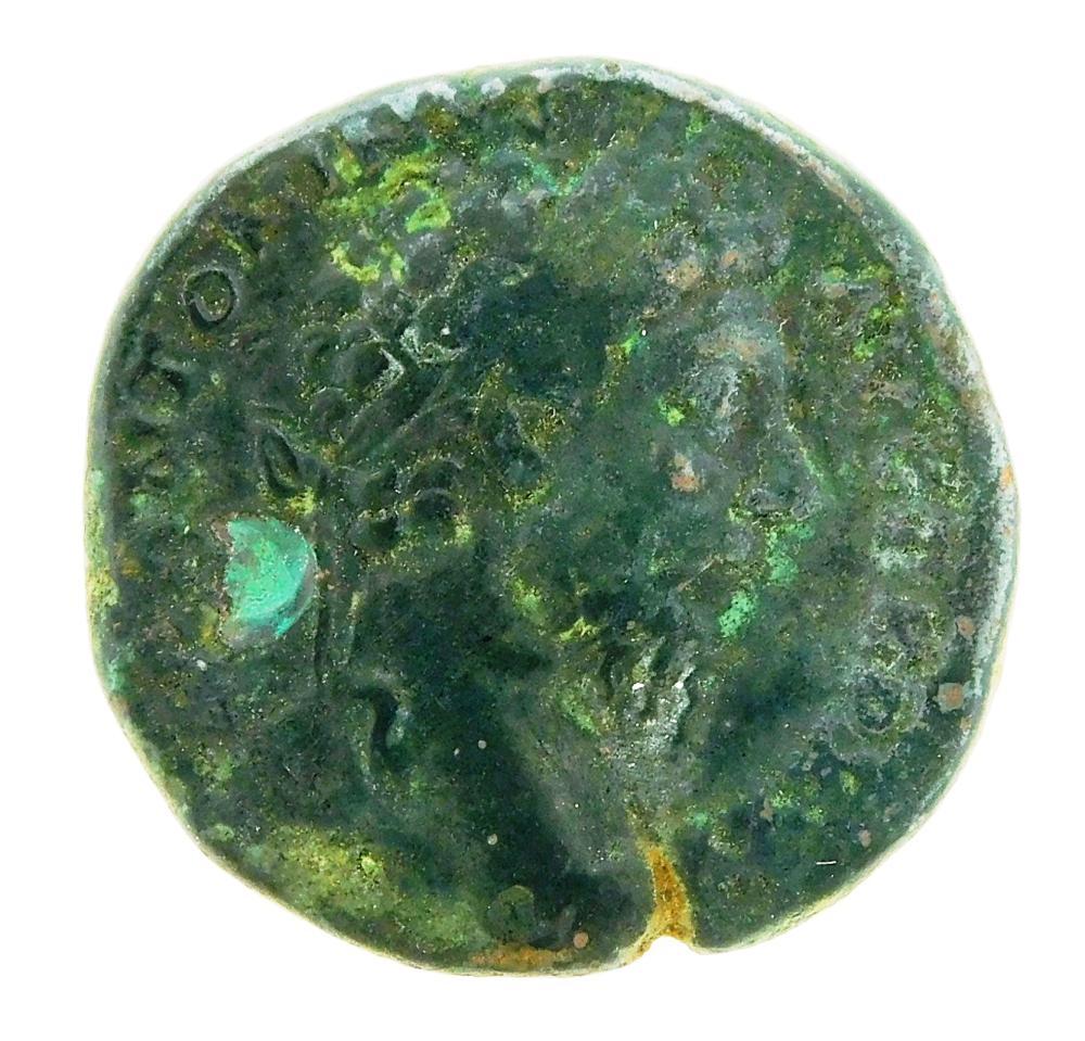 COIN: Ancient Rome. 161-180 AD Marcus Aurelius AE Sestertius. Roma standing left. gF. 21.48 Grams, 29mm [Disclaimer: Descriptions of...