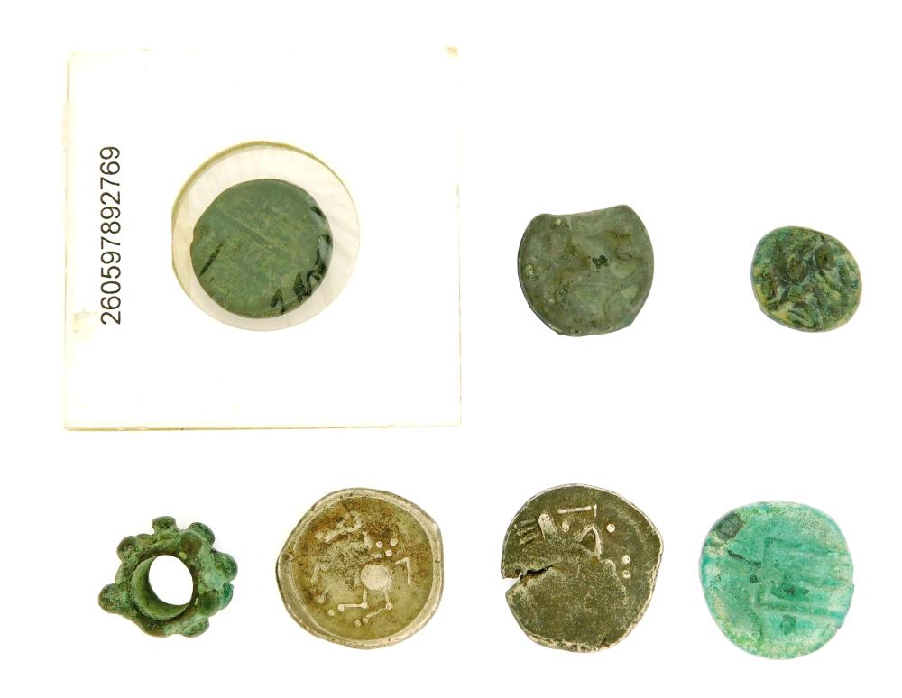 COINS: Ancient Celtic Septet. (After 88 BC) Barbarian imitation of Macedon AE Janus, 2 Centaurs. VF with green patina. 2.71 Grams, 1...