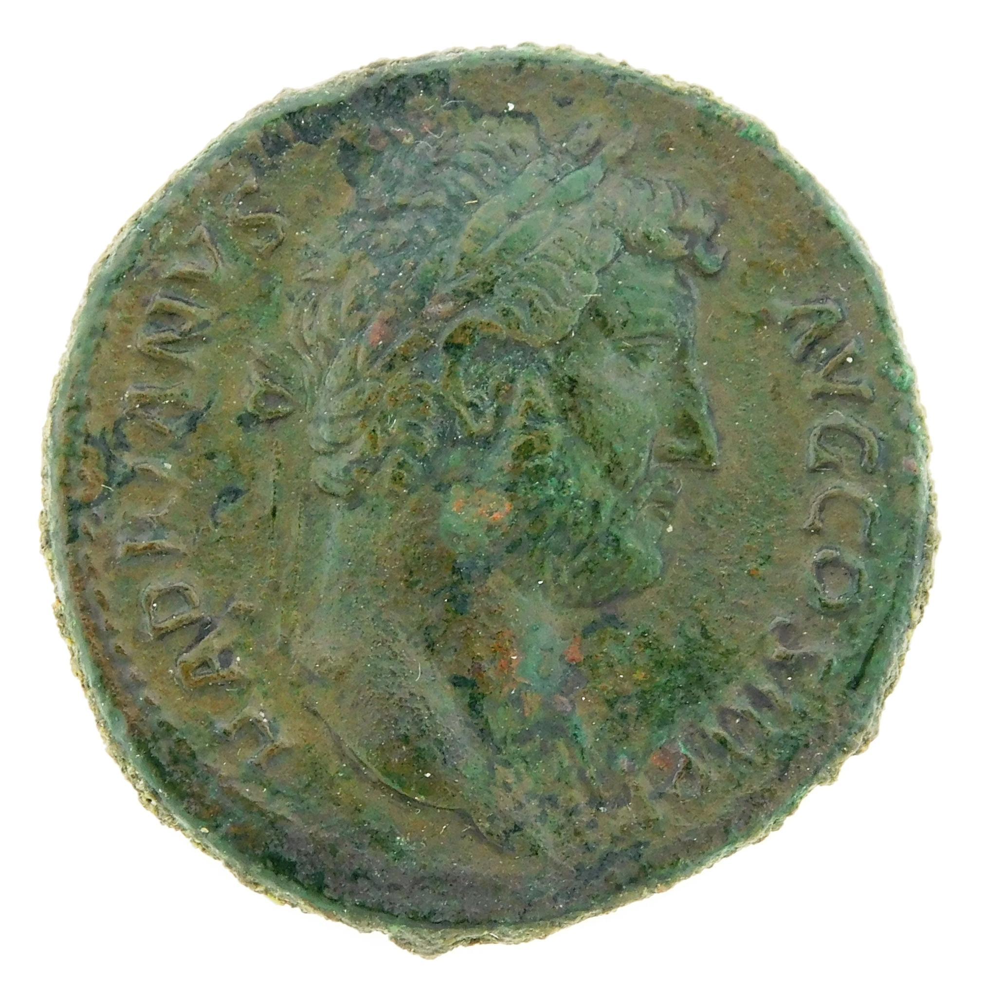 COIN: Ancient Rome. 117-138 AD Hadrian AE Sestertius. Fortuna Standing Left, RIC-759. VF. 26.18 Grams, 31.2mm [Disclaimer: Descripti...