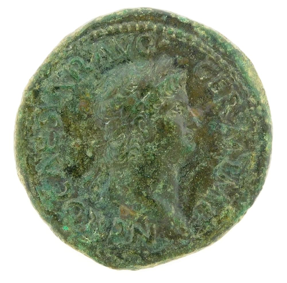COIN: Ancient Rome. 54-68 AD Nero AE As. Temple of Janus. nVf. 11.4 Grams, 27.6mm [Disclaimer: Descriptions of these ancient coins a...