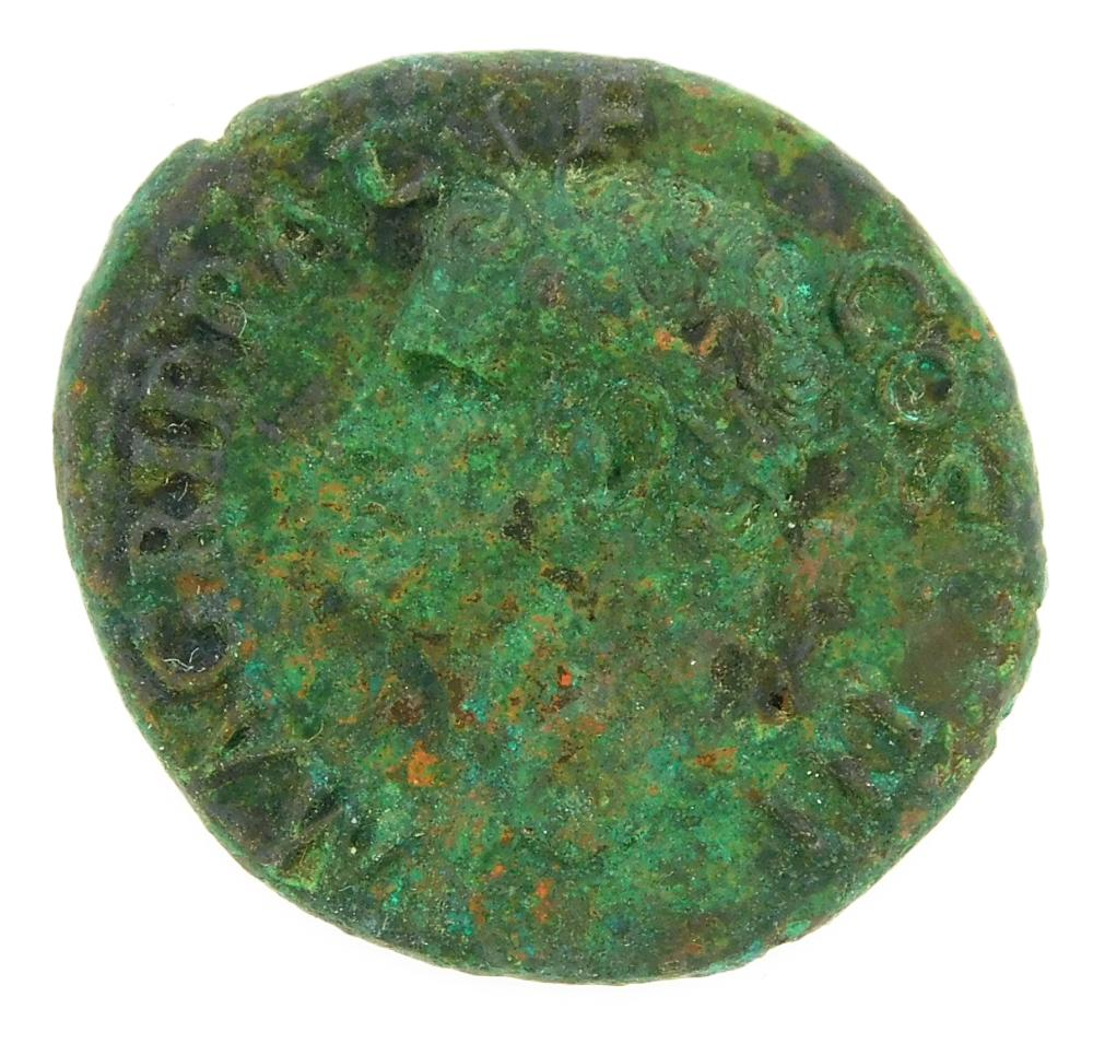 COIN: Ancient Rome. M. Agrippa AE As, Struck under Caligula 37-41 AD. Neptune standing left, RIC 58. nEF with dark green patina. 10....