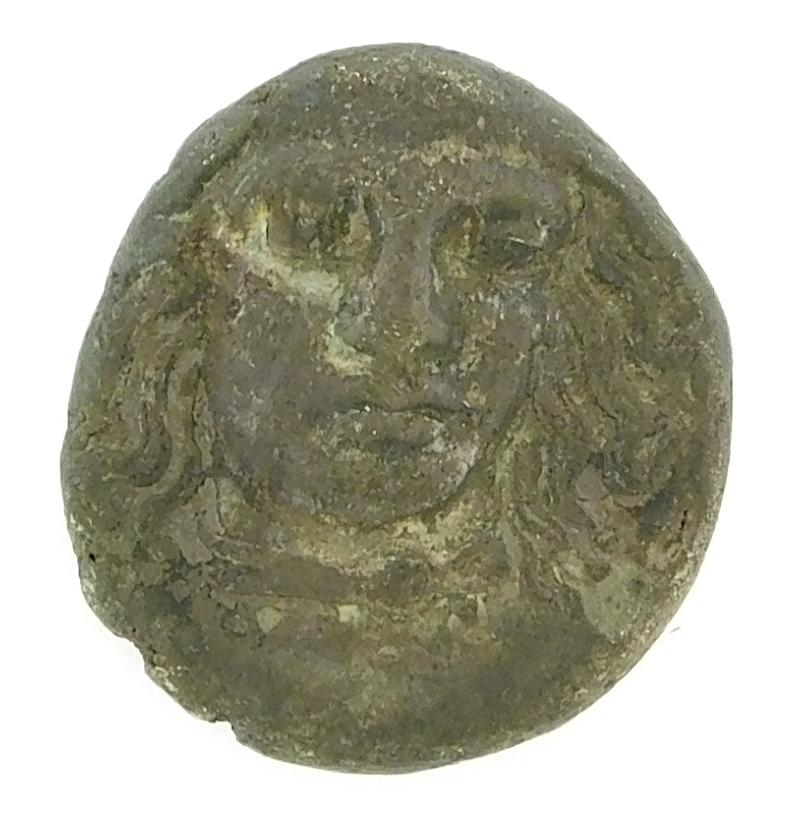 COIN: Ancient Greece Satraps of Karia. Circa 377-352 BC AR Drachm. Apollo facing slightly right, Zeus standing right. nVF. 3.39 gram...