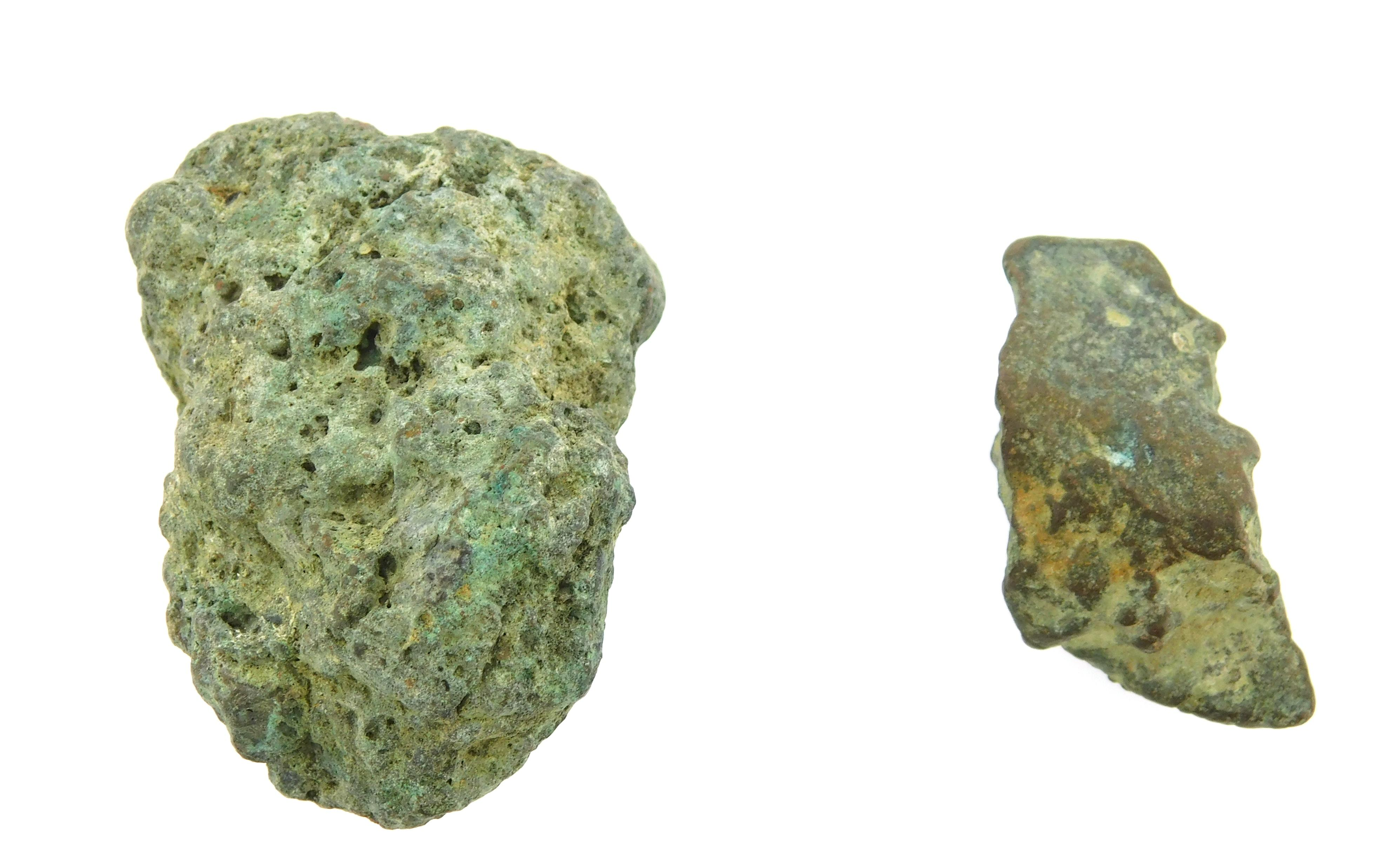 COINS: Ancient Rome Pair. Pair of circa 5th-4th Century BC Bronze Aes Rude. Aes Rude is the earlier proto money used in Central Ital...