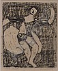 """Image 2 for Milton Avery (American 1885-1965), woodcut, entitled """"The Dancer"""", pencil signed LR, artist's proof LL, labels verso including Renta..."""
