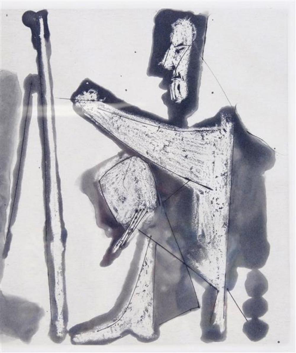 """Pablo Picasso (Spain/France, 1881-1973), """"Le Peintre et son Modèle"""", aquatint with burin, 1963, Bloch 1133, Ed: 50, signed with penc..."""