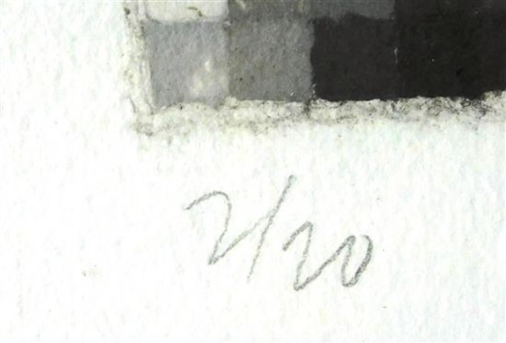 "Chuck Close (American, b. 1940), ""Robert I (Butler Institute 26)"", 1982, handmade pressed paper pulp in grays, ed. 2/20 lower left,..."