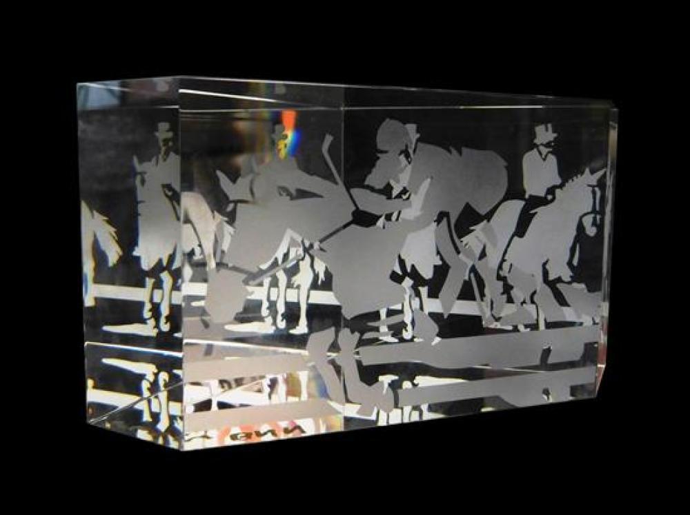 GLASS: Steuben glass, two pieces, 20th C., including: Steuben