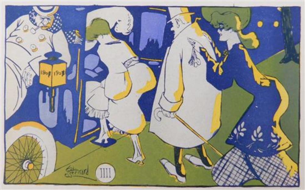 EPHEMERA: Six Art Nouveau postcards,