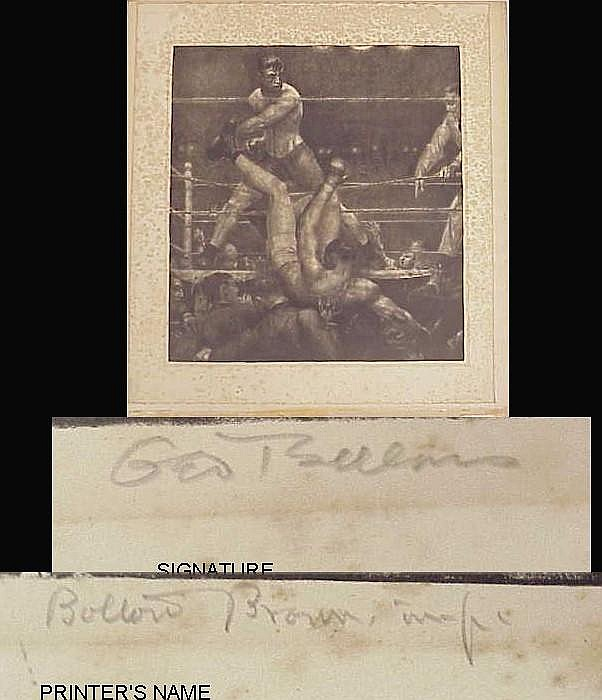 George Bellows (American 1882-1925) lithograph
