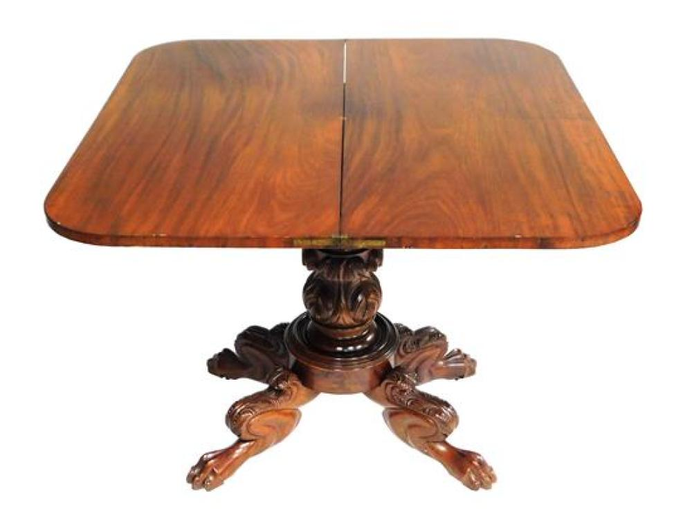 Federal style card table, 19th C