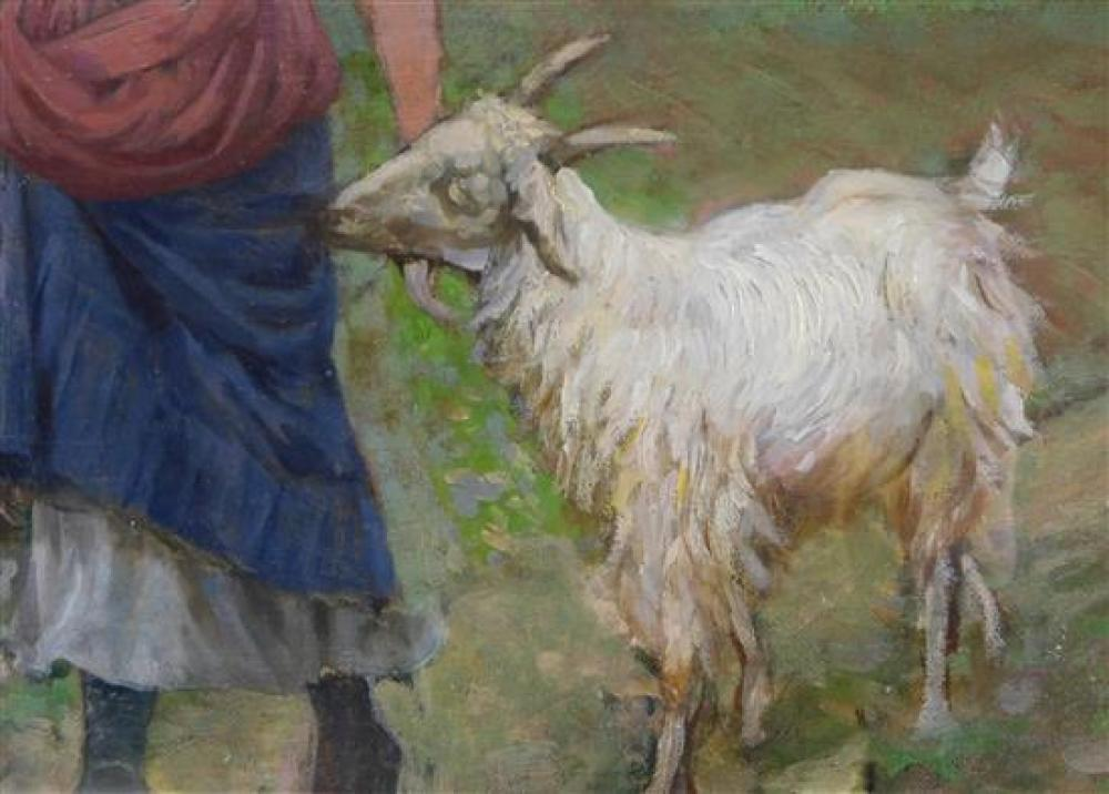 """""""Girl with Sheep"""", 19th C"""