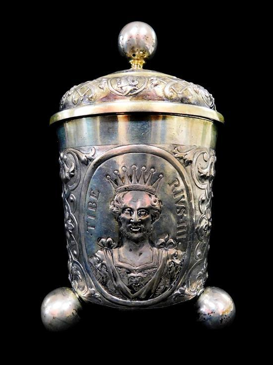 SILVER: German covered cup, possibly Bamberg, 18th C
