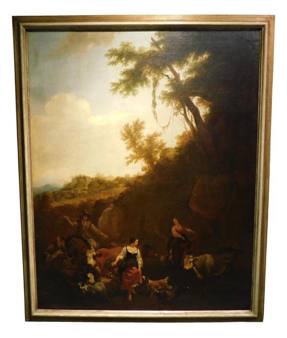 Nicholaes Pietersz Berchem (Dutch, 1620 - 1683), Workshop of,