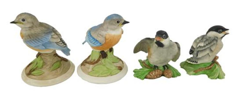 Boehm porcelain bird figurines, seven pieces, all marked on base, pieces include: