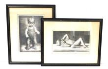 """James Chapin (American, 1887-1975), two framed lithographs, both pencil signed LR: """"The Step"""", depicting a toddler's teetering first.."""