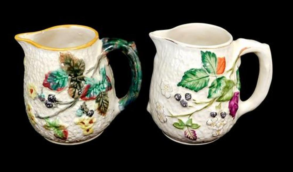 Majolica, Avalon and Clifton, twenty-two pieces, all with raised berry decoration, including: nineteen pieces of Clifton with blackb...