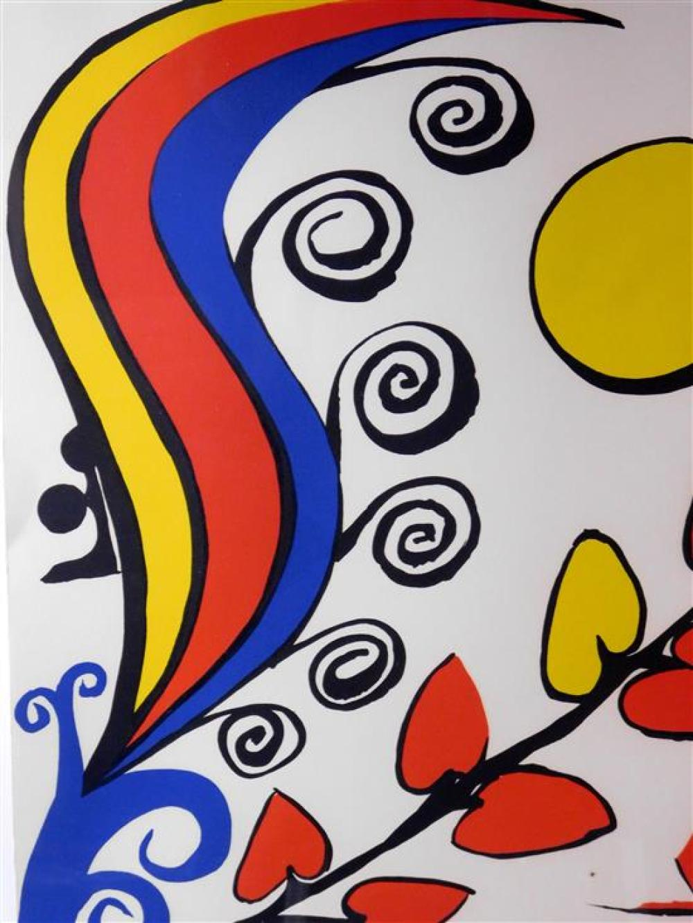 """Alexander Calder (Connecticut, 1898-1976), 'Les Fleurs"""", lithograph, 1975, ed: 90, signed with pencil lower right, inscribed with pe.."""