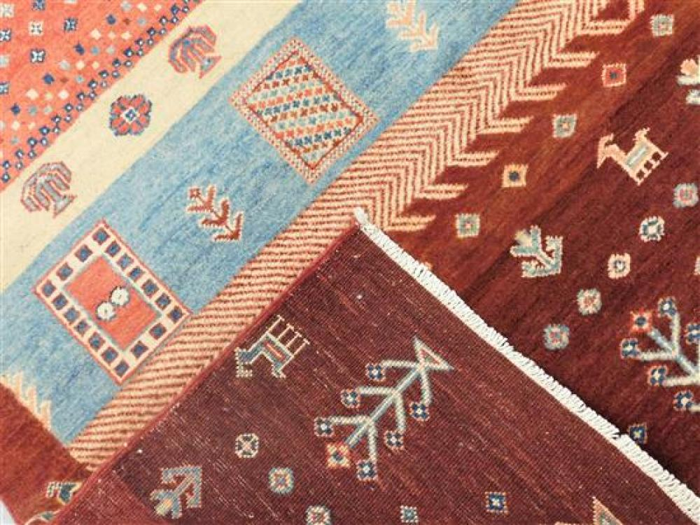 """RUG: Uzbek village tribal 5' 10"""" x 8' 1"""", hand-made, 100% wool, polychrome with classic geometric design, wear consistent with age a."""
