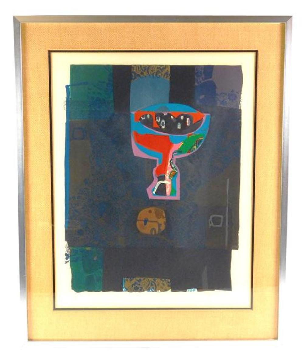 """Roger Bezombes (France, 1913-1994), """"Still-life with Plums"""", lithograph, 1975, ed: 150, signed with pencil lower right, inscribed wi..."""
