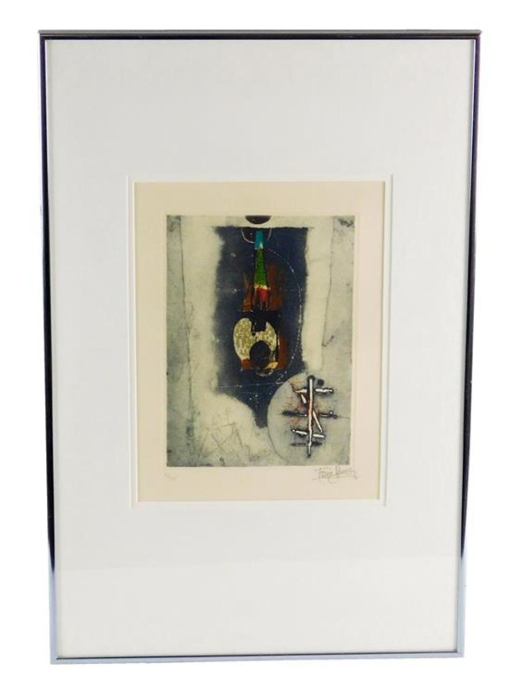 """Johnny Friedlander (Germany, 1912-1992), """"Le Voyage"""", etching, 1975, ed: 95, signed with pencil lower right, inscribed with pencil """"..."""