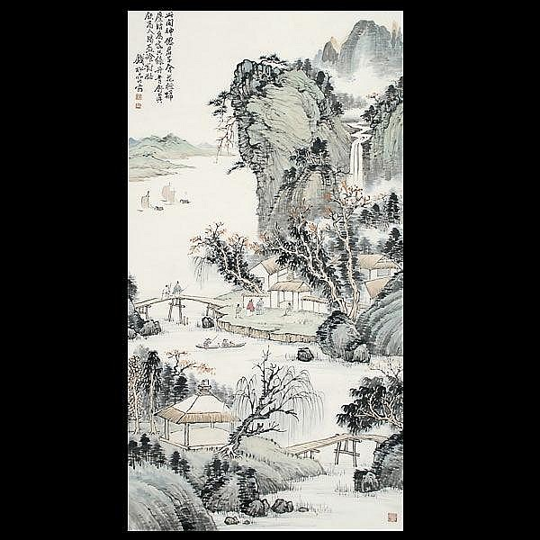 Chinese ink painting Qin Song Yan (1899 -1985)