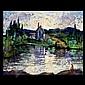 Harry Shoulberg. Am Art. Landscape. oil.