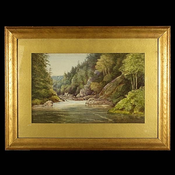 American Art, John Whittaker, Landscape W/C