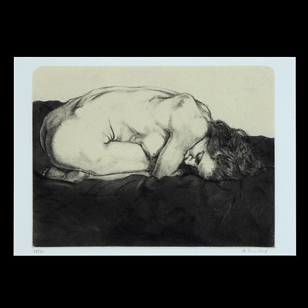 Sigmund Abeles, American Art, Drypoint Nude Signed