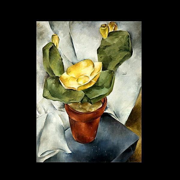 Virginia True, American Still Life Art, Cactus