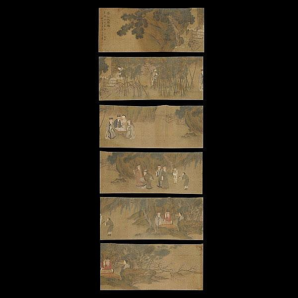 After Gu Jianlong (1606-1687): Nine Sages