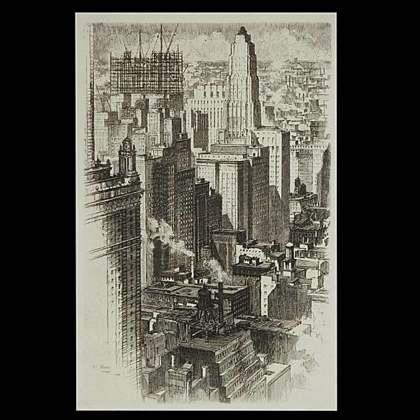 A. C. Web, 1930's Etching of Chicago.