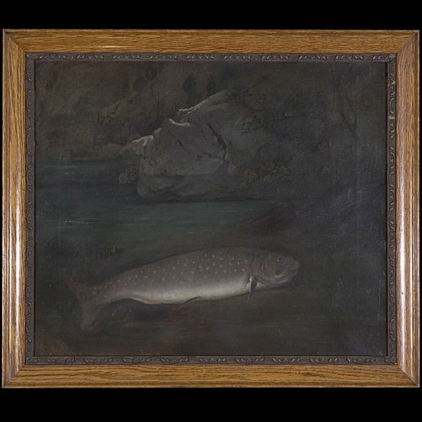 Samuel Brookes, California Art, Fish in Landscape
