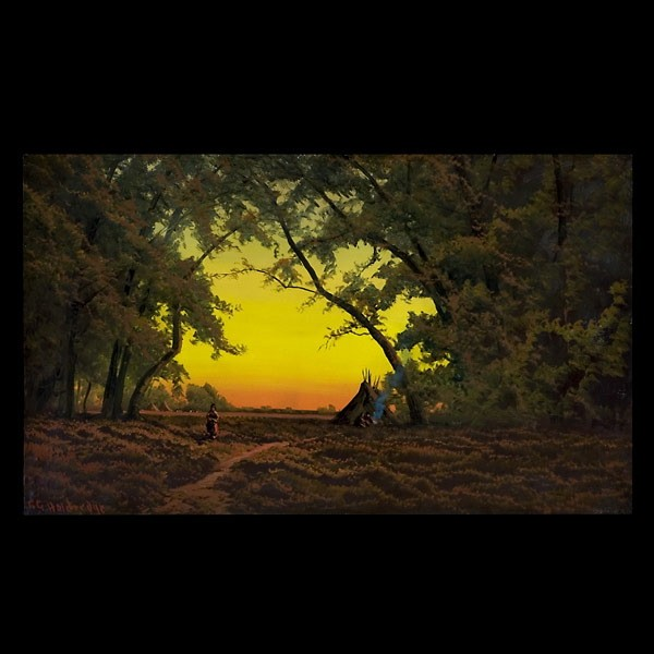 Ransome Gillet Holdredge, Indian Camp at Sunset