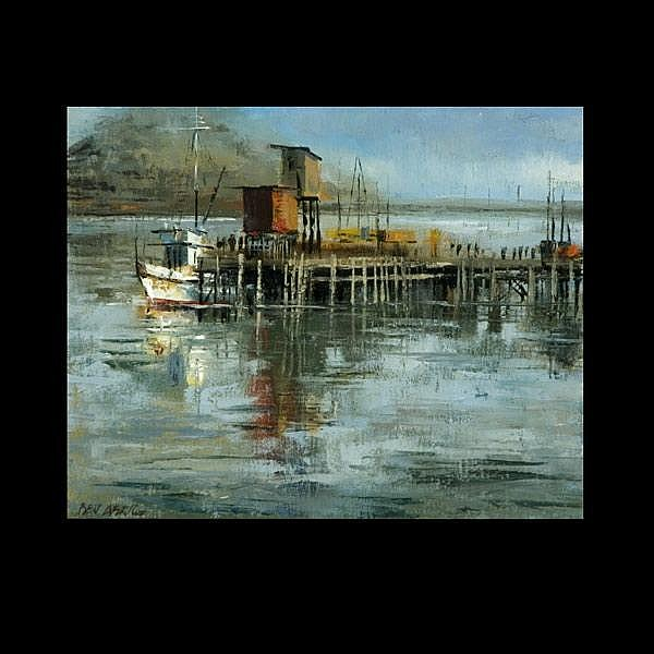 Ben Abril California Art, Coastal with Boats